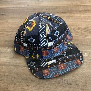 TOPMAN Geometric Pattern Blue SnapBack hat